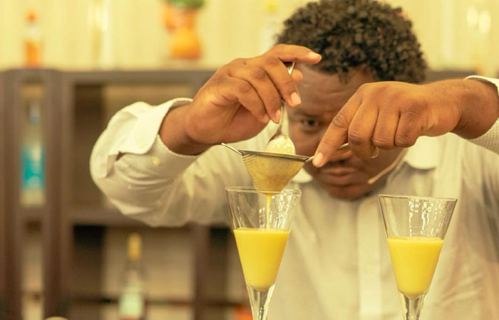 Bartender Kelvin Ventura wins title for Best Rum Cocktail at Taste of the Caribbean!